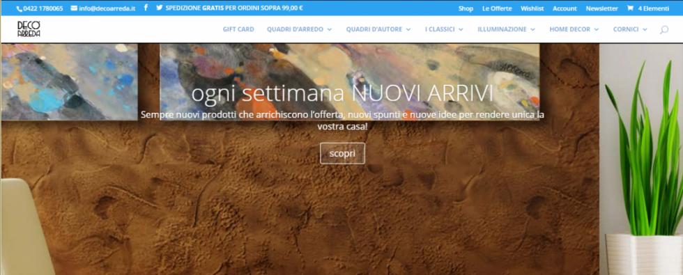decoarreda.it home page